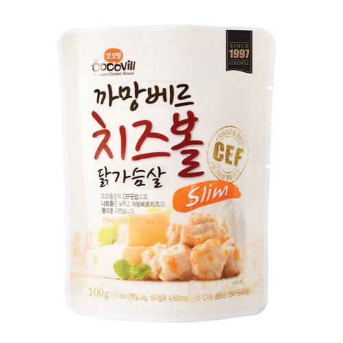 [무료배송] [꼬꼬빌] 까망베르 치즈볼 닭가슴살 슬림100g 10팩