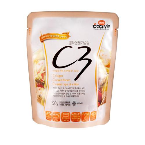 [무료배송] [꼬꼬빌] 콜라겐닭가슴살 C3 100팩