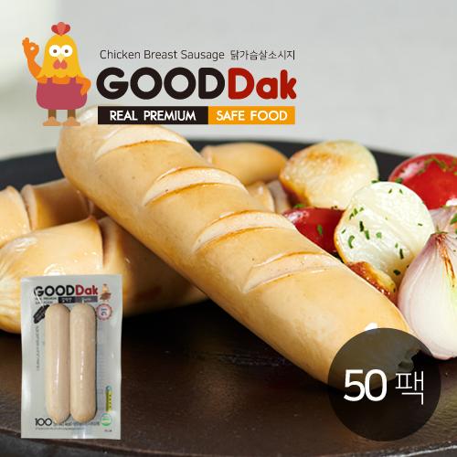 [굳닭] 닭가슴살소시지(갈릭) 50팩