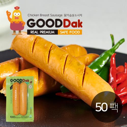 [굳닭] 닭가슴살소시지(청양고추) 50팩