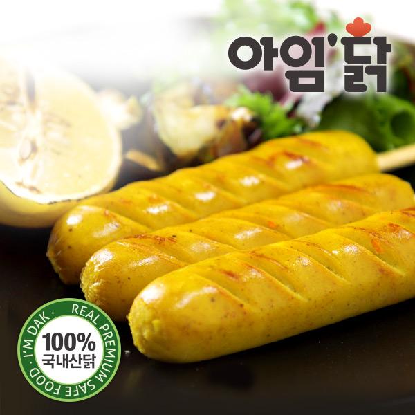 [무료배송] [아임닭] 리얼커리 닭가슴살 꼬치형 소시지 (70g x 100팩)