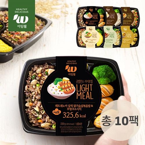[무료배송] [아임닭] 아임웰 굿밸런스 라이트밀 도시락 6종 (10팩)