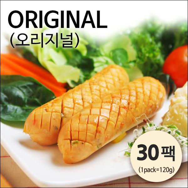 [자연애벗] 발효닭가슴살 소시지 오리지널 30팩