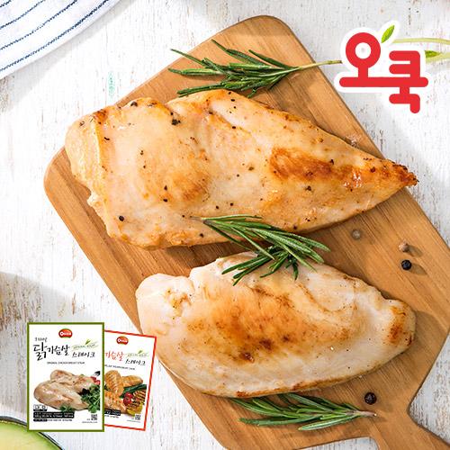 [무료배송] [오쿡] 참프레 닭가슴살 스테이크 (1.4kg x 2팩)