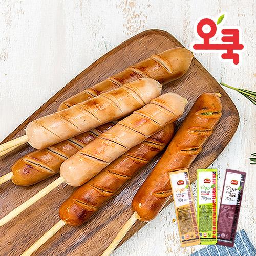 [오쿡] 닭가슴살 소시지 핫바 12팩