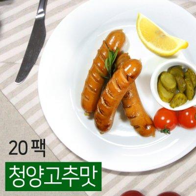 [무료배송] [오쿡] 더 슬림한 소시지 청양고추맛 20팩 (100g x 20팩)