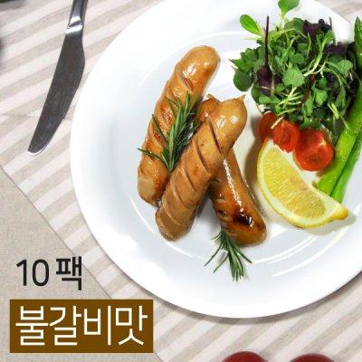 [24%할인+무료배송] [오쿡] 더 슬림한 소시지 불갈비맛 10팩 (100g x 10팩)