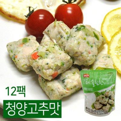 [오쿡] 큐브 닭가슴살 청양고추맛 12팩 (100g x 12팩)