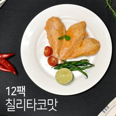 [무료배송] [오쿡] 수비드 닭가슴살 칠리타코맛 12팩 (100g x 12팩)
