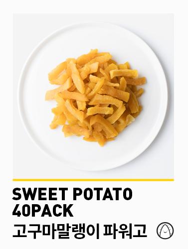 [무료배송] [파워닭] 파워고 고구마말랭이 40팩