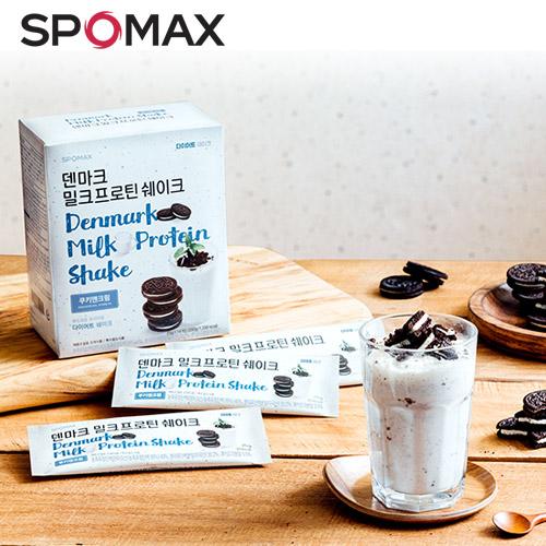 [8월 스포맥스데이] [무료배송] 덴마크 밀크프로틴 쉐이크 쿠키앤크림 (14포)