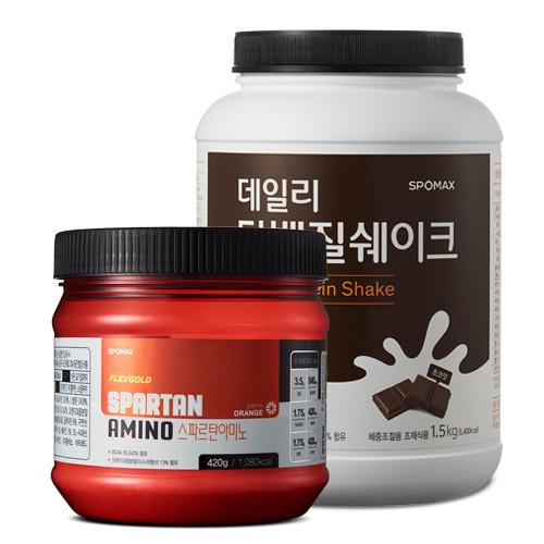 [스포맥스] 데일리 단백질쉐이크 1.5kg +스파르탄 아미노 420g
