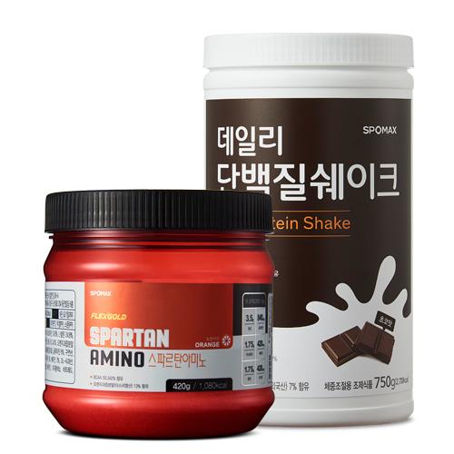 [스포맥스] 데일리 단백질쉐이크 750g +스파르탄 아미노 420g