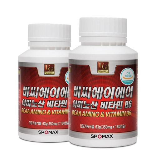 [스포맥스] BCAA아미노산 비타민B6 180cap x 2