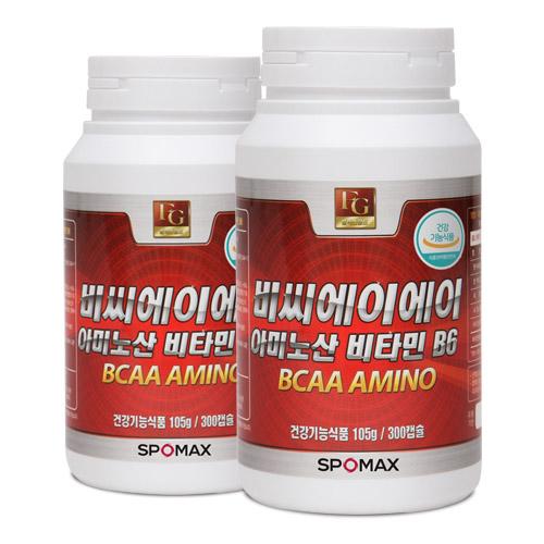 [스포맥스] BCAA아미노산 비타민B6 300cap x 2