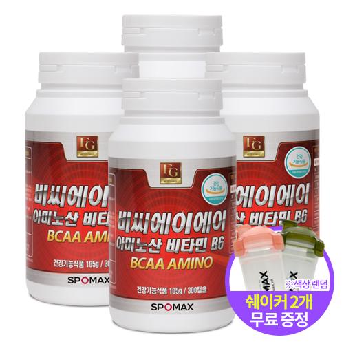 [스포맥스] BCAA아미노산 비타민B6 300cap x 4